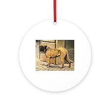 Bullmastiff Illustration Ornament (Round)