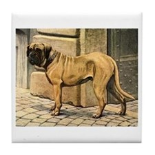 Bullmastiff Illustration Tile Coaster