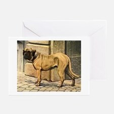 Bullmastiff Illustration Greeting Cards (Package o