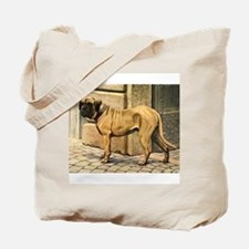 Bullmastiff Illustration Tote Bag