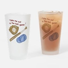 Baseball Drinking Glass