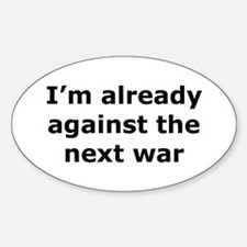 against the next war Rectangle Decal