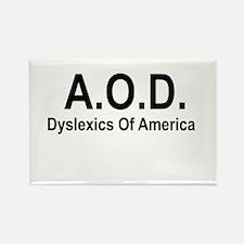 A.O.D. Rectangle Magnet