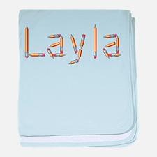 Layla Pencils baby blanket