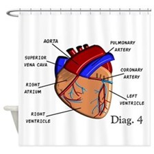 The heart Diagram BEST Shirts.PNG Shower Curtain