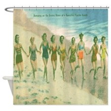 Vintage Sunny Shore Florida Shower Curtain