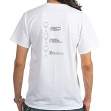 Color Run Finish Chocolate Inhaler2 White T-shirt