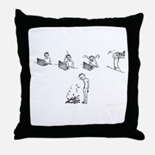 5 Stages of Web Design Throw Pillow