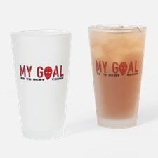 My Goal Is To Deny Yours (Hockey) Drinking Glass