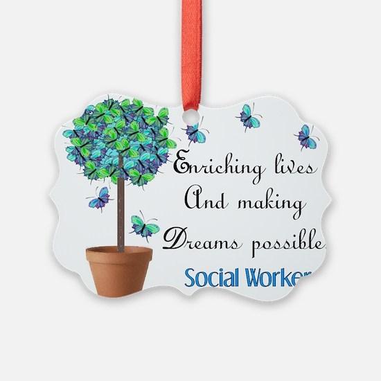 Cute Social worker student Ornament