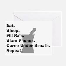 pharmacist Slam phones.PNG Greeting Card