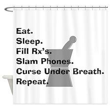 pharmacist Slam phones.PNG Shower Curtain