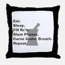 pharmacist Slam phones.PNG Throw Pillow