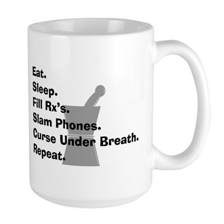 pharmacist Slam phones.PNG Large Mug