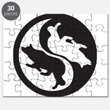 Border Collie Ying Yang Puzzle
