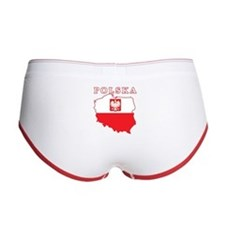 Polska Map With Eagle Women's Boy Brief