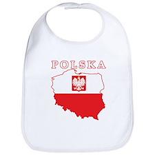 Polska Map With Eagle Bib