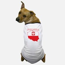 Polska Map With Eagle Dog T-Shirt