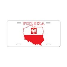 Polska Map With Eagle Aluminum License Plate