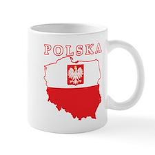 Polska Map With Eagle Mug