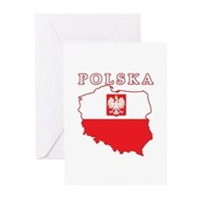 Polska Map With Eagle Greeting Cards (Pk of 20)