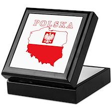 Polska Map With Eagle Keepsake Box