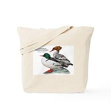 Common Mergansers Tote Bag