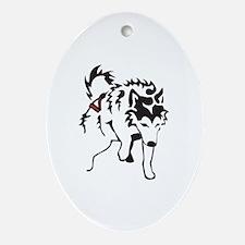 Alaskan Malamute Weight Pull.psd Ornament (Oval)