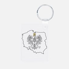 Poland Map With Eagle Keychains