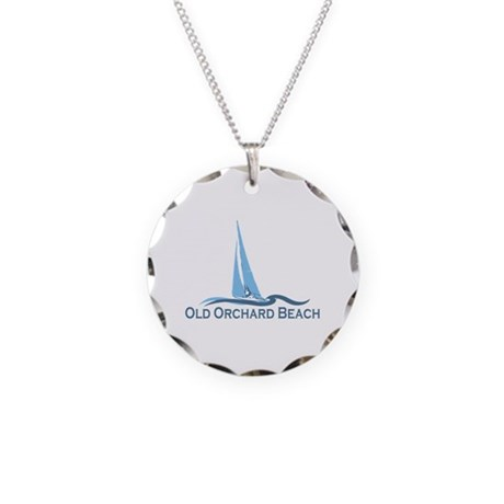 Old Orchard Beach ME - Sailing Design Necklace Cir