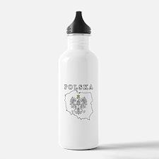 Polska Map With Eagle Water Bottle