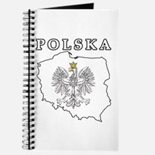 Polska Map With Eagle Journal