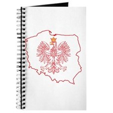 Red Polish Map With Eagle Journal