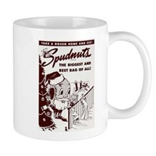 Here Comes Spudnut Claus! Mugs
