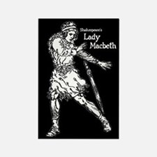 Shakespeare's Lady Macbeth Rectangle Magnet