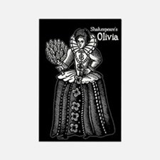 Shakespeare's Olivia Rectangle Magnet