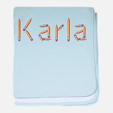 Karla Pencils baby blanket