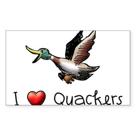 I Love Quackers Sticker