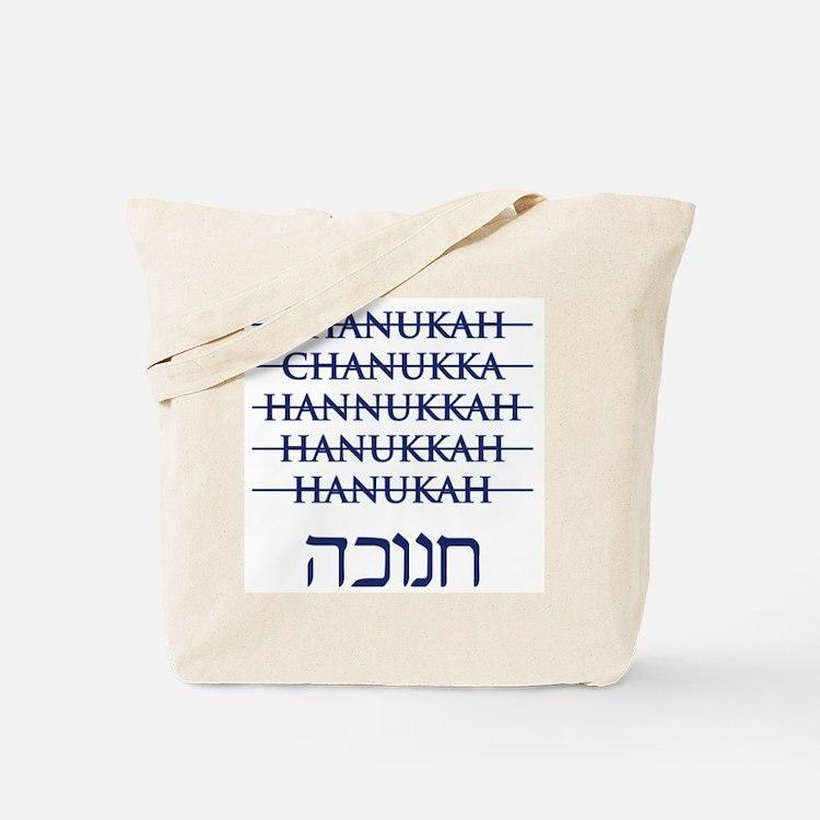 Spelling Chanukah Hanukkah Hanukah Tote Bag