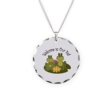 Welcome To Our Pad Frogs Necklace