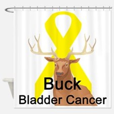 buck-bladder-cancer.png Shower Curtain