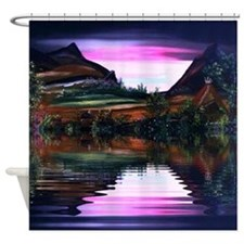 Native American The View Shower Curtain
