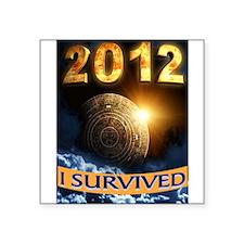 "APOCALYPSE SURVIVOR Square Sticker 3"" x 3"""