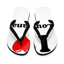 I Heart Love Louisiana.png Flip Flops