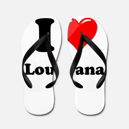 I Heart Love Louisiana.png Flip Flops