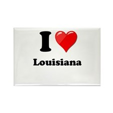 I Heart Love Louisiana.png Rectangle Magnet