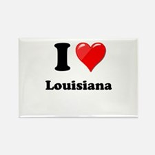 I Heart Love Louisiana.png Rectangle Magnet