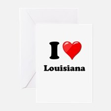 I Heart Love Louisiana.png Greeting Cards (Pk of 1