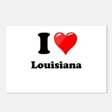 I Heart Love Louisiana.png Postcards (Package of 8