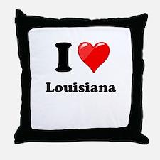 I Heart Love Louisiana.png Throw Pillow